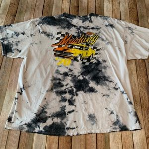 Vintage tie dye Ford Mustang shirt sleeve T-shirt